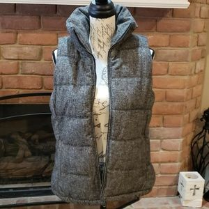 Like New Old Navy Tweed Puffer Vest